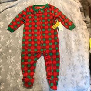 Leveret Footed Christmas Plaid Pajama Sleeper